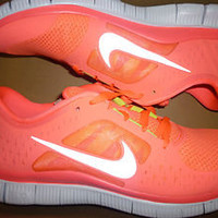New Womens Nike FREE RUN+ 3 RUNNING SHOES PUNCH SILVER PLATINUM size 11.5