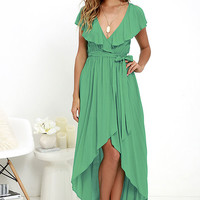 Merriment to Be Green High-Low Dress