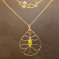 Necklace 1-27 - choice of stone - GOLD