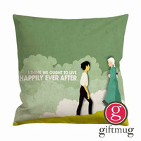 Howls Moving Castle Quotes Cushion Case / Pillow Case