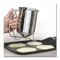 Home Kitchen Pancake Batter Dispenser Make Perfect Pancakes Without the Mess of Spilling From Bowls