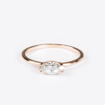 East West Marquis Ring Rose Gold