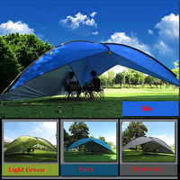 2017 on sale 480*480*480*200cm waterproof canopy  huge sun shelter bivvy awning beach pergola fishing outdoor camping tent