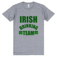 Irish Drinking Team St. Patrick's Day Tri Blend Tee Shirt