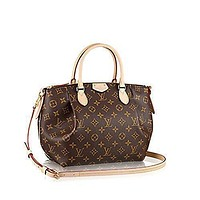 Tagre™ LV Women Shopping Leather Authentic Louis Vuitton Monogram Canvas Turenne PM Tote Bag