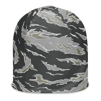 Winter Tiger Camo All-Over Print Beanie