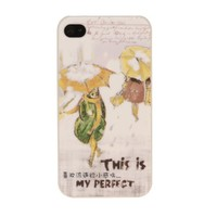 Retro Fashion Artistic Expressions Rainy Day Poetry Snap-On Case for iPhone 4/4S