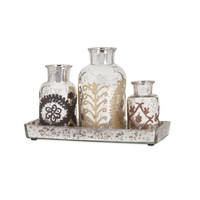 Dafne Mercury Bottles with Tray