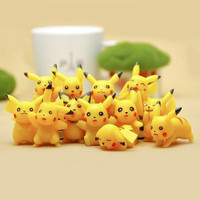 Bag O' Pikachu Collectible Pokemon Figures Statues Models 12 Pcs