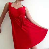 Red Dress Sweetheart  cocktail red dress with a matching