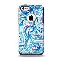 Swirly Vector Water-Splash Pattern Skin for the iPhone 5c OtterBox Commuter Case