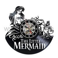 Vinyl Wall Clock The Little Mermaid Creative Clock