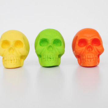 Skulls, Set 3, Skull Decor, Office, Skull Home Decor, Skull Ornament, Skull Figurine