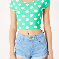 Spot Bardot Crop Top - New In This Week - New In - Topshop USA