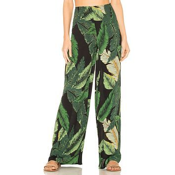 Beach Riot Celeste Pant Black Palm
