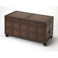 Butler Dennard Faux Leather Storage Coffee Table