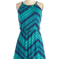Mid-length Sleeveless A-line From Cheer On Out Dress