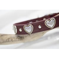 Leather Hearts Collar