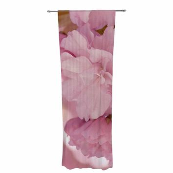 "Robin Dickinson ""Thankful, Grateful, Blessed"" Pink Maroon Photography Decorative Sheer Curtain"