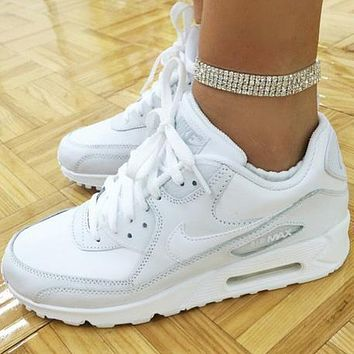 NIKE AIR MAX 90 fashion ladies men running sports shoes sneakers F