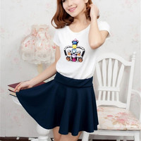 Style Korean version Skirts safty Candy Color mini skirt women's and high waist pleated short skirt