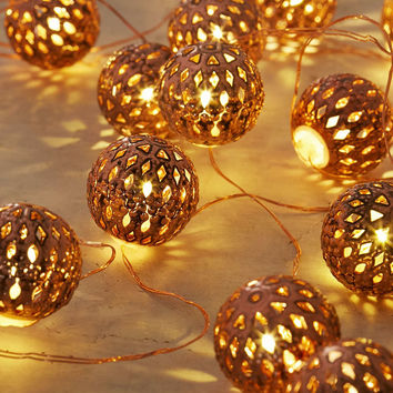 Copper Lantern String Lights - Urban from Urban Outfitters