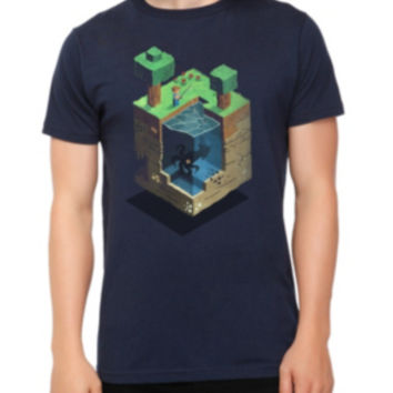 Minecraft A Day In The Blocky Life Slim-Fit T-Shirt 3XL