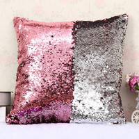 Drop Ship DIY Mermaid Sequin Pillow Cushion magical color changing sequin throw pillows Home Decor Decorative Sofa Pillow