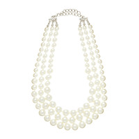 Hayley 3 camadas Pearl Necklace - Forever New