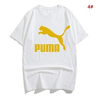 PUMA  Summer Fashion New Letter Print Women Men Leisure Top T-Shirt 4#