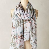 Albero Scarf by Anthropologie in Neutral Motif Size: One Size Scarves