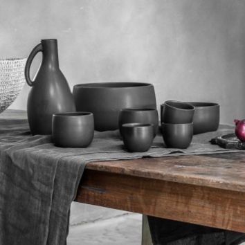 Black Ceramics by Nelson Sepulveda - Home Decoration