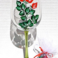 Graduation 2016 Gift Painted Wine Glass With A Wine Charm, Gifts For Grads, Graduation Keepsake, Ready To Personalize