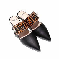 Fendi Women Fashion Casual Heels Shoes Sandals Shoes