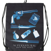 Supernatural Icons Cinch Back Sack