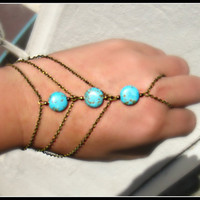 turquoise slave bracelet turquoise jewelry by alapopjewelry
