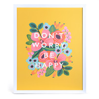 Don't Worry Be Happy Framed Art