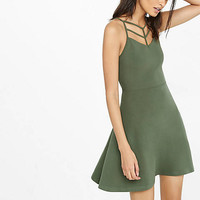 Strappy Front Fit And Flare Dress from EXPRESS