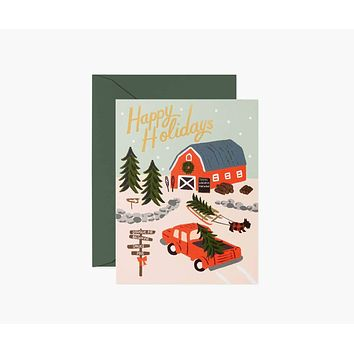 Holiday Tree Farm Cards - Boxed Set of 8