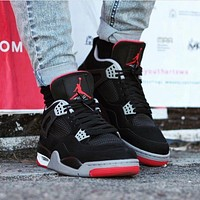 Air Jordan 4 ¡°Bred¡± AJ4 Retro Sneakers