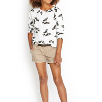 FOREVER 21 GIRLS Belted Woven Shorts (Kids)