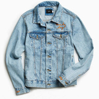 UO Embroidered Denim Trucker Jacket - Urban Outfitters