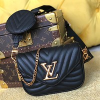 LV Louis Vuitton Two-Piece Set Classic Mini Coin Purse Chain Bag Shoulder Messenger Bag