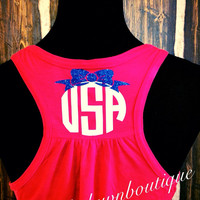 Women's USA-4th of July Racerback Tank Top