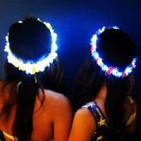 Light Up LED Flower Crown for Festivals, EDC, EDM Raves or Concerts
