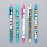 Oohlala Funny illustration black ballpoint pen 0.38mm ver.2