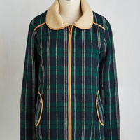 70s Mid-length Long Sleeve Hardcover Hunt Jacket by Kling from ModCloth