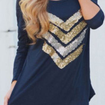Sparkling Chevy Blouse