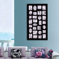 Decorative Black Wood Wall Hanging Collage Picture Photo Frame