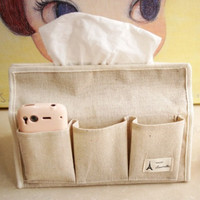 Cotton Linen Korean Storage Tissue Box [6283597830]